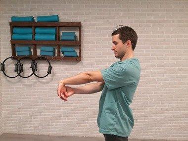 estiramiento musculatura extensora